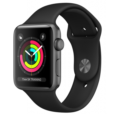 Часы Apple Watch Series 4 GPS 40mm Aluminum Case with Black Sport Band