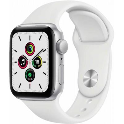 Часы Apple Watch SE GPS 40mm Aluminum Case with Sport Band (Серебристый/Белый)
