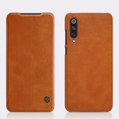 Чехол Книжка Nillkin QIN leather case для Xiaomi Mi9 Коричневый