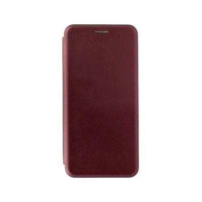 Чехол-книжка для Xiaomi Redmi Note 10 Pro красно бордовый