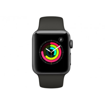 Apple Watch Series 3 42mm Aluminum Case with Black Sport Ban..