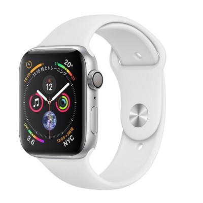 Часы Apple Watch Series 4 44mm Silver Aluminum Case with White Sport Band (MU6A2)