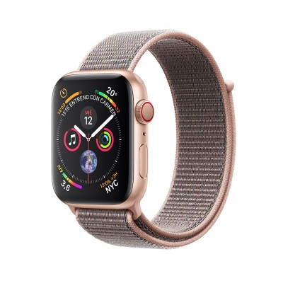 Часы Apple Watch Series 4 GPS 44mm Gold Aluminum Case with Pink Sand Sport Loop