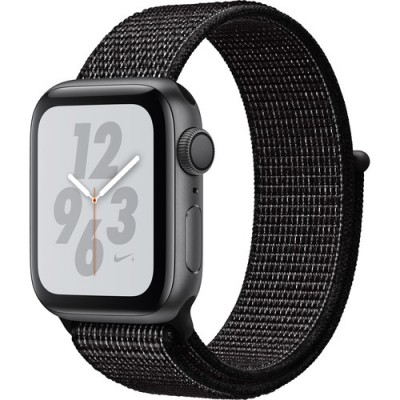 Часы Apple Watch Series 4 GPS 40mm Aluminum Case with Summit Nike Sport Loop (Цвет: Серый космос/Черный)