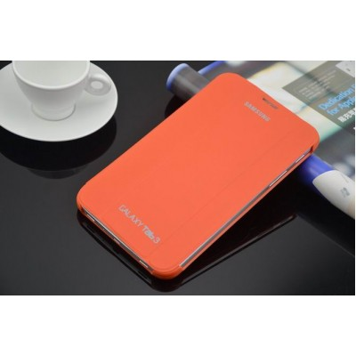 Leather book cover case for Samsung Galaxy Tab 3 7.0 Orange
