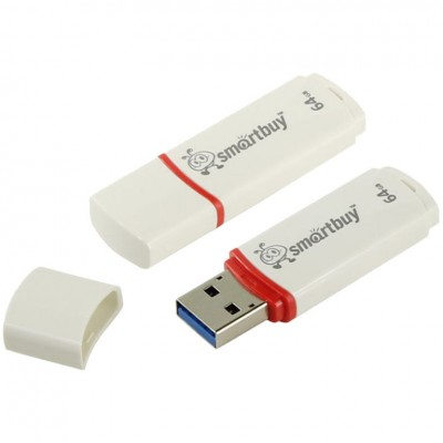 Флешка SmartBuy Crown 64Gb USB 2.0 White